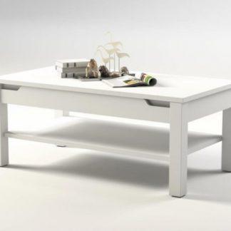 ATAN Konferenční stolek ADONIS AS 96 - bílý vysoký lesk - II. jakost