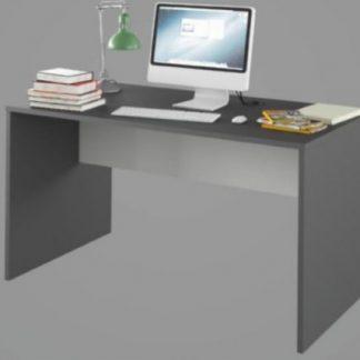 Tempo Kondela PC stůl Rioma TYP 11 - grafit / bílá + kupón KONDELA10 na okamžitou slevu 3% (kupón uplatníte v košíku)