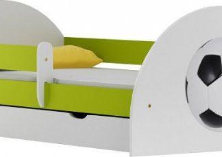 Vomaks Dětská postel FOTBAL 20 s potiskem + MATRACE - 1846/94