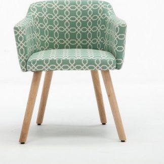 Tempo Kondela Designové křeslo DIPSY - vzor zelená + kupón KONDELA10 na okamžitou slevu 3% (kupón uplatníte v košíku)