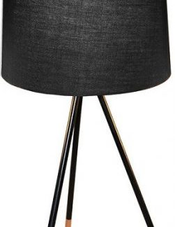 Tempo Kondela Stolní lampa JADE Typ 4 - černá + kupón KONDELA10 na okamžitou slevu 3% (kupón uplatníte v košíku)