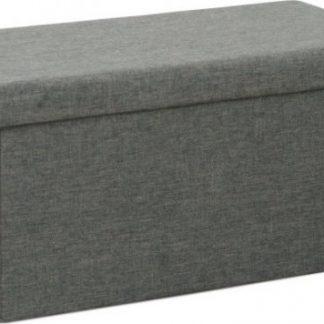 Tempo Kondela Skládácí taburet ORELIA - šedá + kupón KONDELA10 na okamžitou slevu 3% (kupón uplatníte v košíku)
