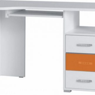 Falco Psací stůl Neymar R11 - bílá/oranžový lesk