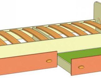 Lubidom Dětská postel s úložným prostorem Fruttis - žlutý
