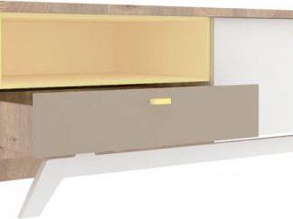 Lubidom Tv stolek Fusion - nelson / žlutý / moka / bílý expo lesk