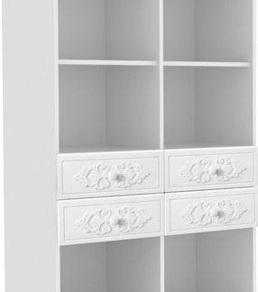 Lubidom Regál Ariel 2 - bíla White schagreen