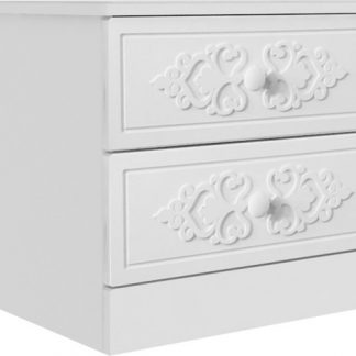 Lubidom Noční stolek Ariel - bíla White schagreen