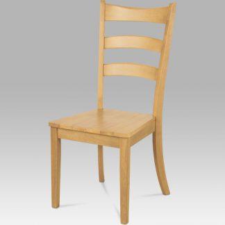 ATAN Dřevěná židle C-191 OAK bělený dub - II. jakost