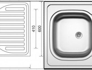 BRW Celoplošný dřez SINKS CLP-D 0 M 0.5mm matný se sifonem