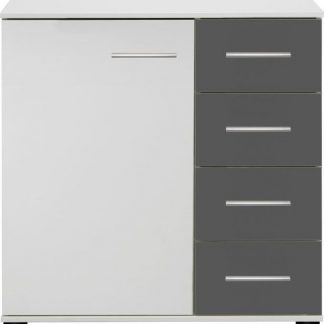 Casarredo Komoda 1D4S ILONA 710 bílá/grafit