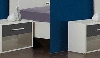 Casarredo Noční stolek ( 2 ks ) ILONA 698 bílá/grafit