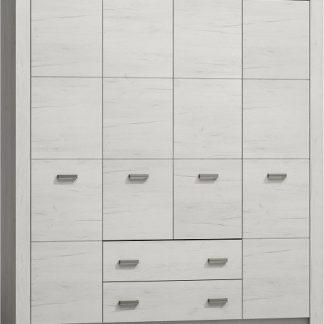 Casarredo Šatní skříň 4-dveř.INDIANAPOLIS I-18 jasan bílý