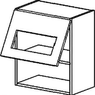 Casarredo Vitrína jednodveřová MORENO WS/ PD sonoma