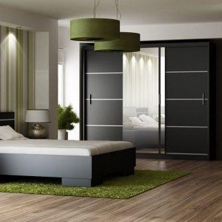 Casarredo Ložnice VISTA černá (postel 160