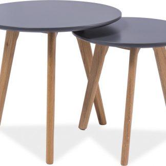 Casarredo Konferenční stolky- sestava MILAN S2 šedá/dub