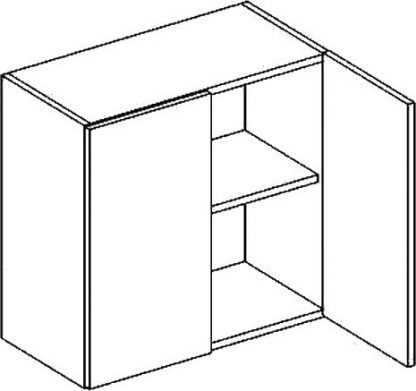 Casarredo W horní skříňka dvojdvéřová PREMIUM de LUX olše