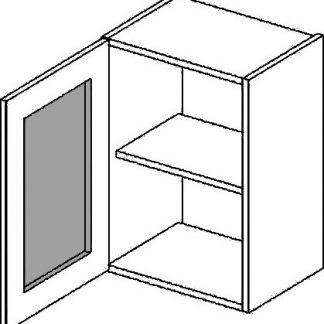 Casarredo WWLMR h. vitrína 1-dvéřová PREMIUM de LUX olše mraž. sklo