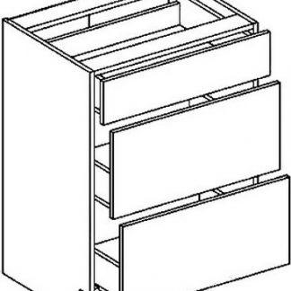 Casarredo DS3 dolní skříňka se zásuvkami PREMIUM de LUX olše