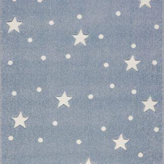 Forclaire Dětský koberec HEAVEN stříbrnošedý/ bílý 100x150 cm