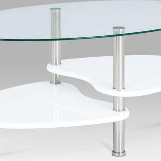 Autronic Konferenční oválný stolek ACT-007 WT1 - police bílá