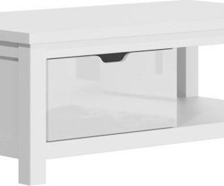 Tempo Kondela Konferenční stolek ARTEK AR90 - bílý lesk / bílá + kupón KONDELA10 na okamžitou slevu 3% (kupón uplatníte v košíku)