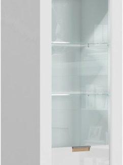 Tempo Kondela Vitrína ARTEK AR02 - bílý lesk / bílá + kupón KONDELA10 na okamžitou slevu 3% (kupón uplatníte v košíku)