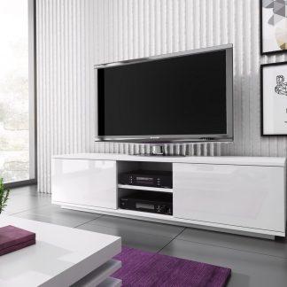 Casarredo Televizní stolek KIMI MINI bílá/bílá lesk