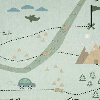 Forclaire Dětský koberec Mapa pokladů mátový 140x190 cm