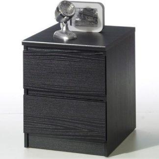 Falco Noční stolek Simplicity 2s černý woodgrain