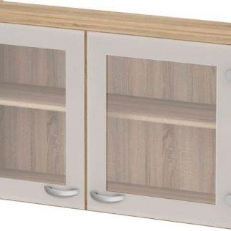 Falco Kuchyňská skříňka Cassie 518 oak/sklo