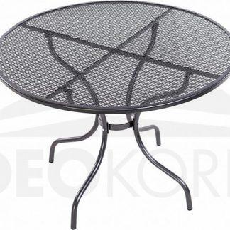 Deokork Kovový stůl bez otvoru na slunečník ø105 cm
