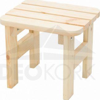 Deokork Masivní dřevěná zahradní stolička z borovice dřevo 22 mm