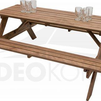 Deokork Masivní dřevěný pivní set z borovice  cm síla 30 mm (mořený)