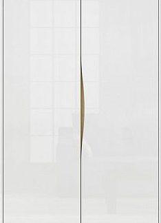 BRW Šatní skříň Pori SZF2D - bílý lesk