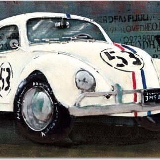 Autronic Obraz - bílé auto DOR053