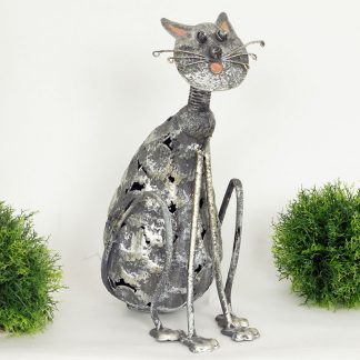 Autronic Dekorační kovová kočka MX160835