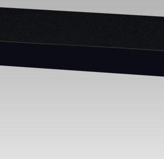 Autronic Nástěnná polička 80cm P-021 BK - černá