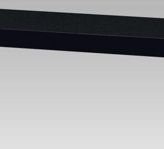 Autronic Nástěnná polička 120 cm P-022 BK - černá