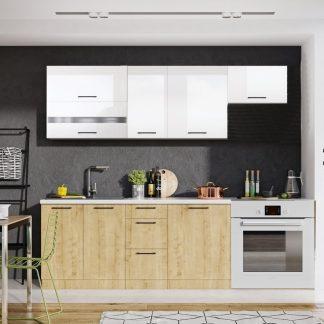 Casarredo Kuchyně KAYA  s výklopem burlington/bílá lesk