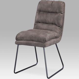 Autronic Jídelní židle DCH-255 BR3 - hnědá látka