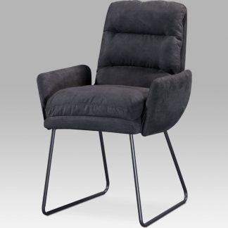 Autronic Jídelní židle Berlin GREY3 - šedá látka