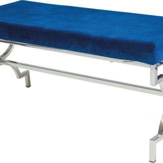 Casarredo Čalouněná lavice MANGO granátově modrá/chrom