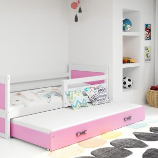 Falco Dětská postel Riky II 90x200 - bílá/růžová