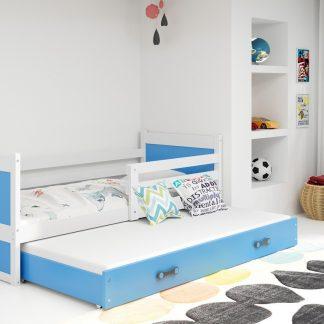 Falco Dětská postel Riky II 90x200 - bílá/modrá
