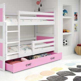 Falco Patrová postel Riky - bílá/růžová