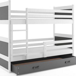 Falco Patrová postel Riky bílá/grafit