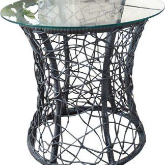 Tempo Kondela Příruční stolek SALMAR - šedá + kupón KONDELA10 na okamžitou slevu 3% (kupón uplatníte v košíku)