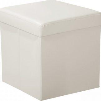 Idea Sedací úložný box krémově bílý