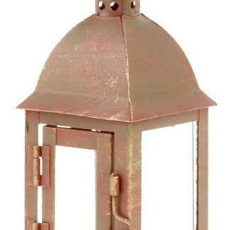 Autronic Lucerna kovová LUC079RED - červená antik